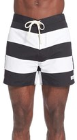 Saturdays Nyc Men's Offset Stripe Board Shorts