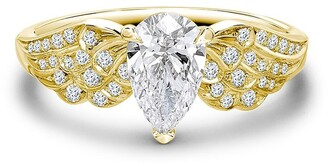 Pragnell 18kt Yellow Gold Pear Shaped Diamond Tiara Ring
