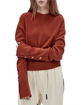 Bassike Button Detail Cashmere Knit