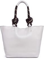 Rebecca Minkoff Climbing rope handle pebbled leather tote