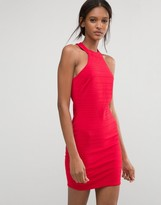 Club L Racer Neck Bandage Dress