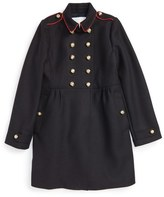 Burberry 'Coraline' Double Breasted Wool Blend Coat (Little Girls & Big Girls)