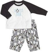 Carter's 2 Piece Pant PJ Set (Baby) - Zebra-24 Months