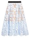 selfportrait flower garden guipurelace midi skirt