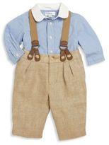Ralph Lauren Baby's Two-Piece Cotton Shirt & Suspenders Set