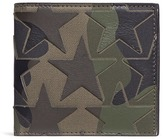 Valentino 'Camustars' leather patch canvas bifold wallet