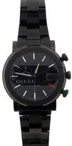 Gucci Stainless Steel Blackout Chronograph Quartz Movement Watch Circa 2000