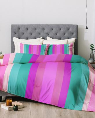 Deny Designs Lisa Argyropoulos Paradise Pink Lines Comforter Set
