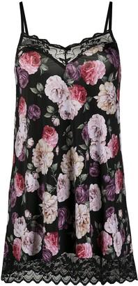 Emporio Armani Floral-Print Slip Dress