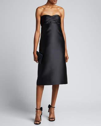 No.21 No. 21 Gathered Strapless Shift Cocktail Dress