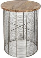 Casa Uno Side Tables Elias Side Table, Silver/Natural