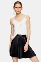 Topshop Womens Ivory Lace Button Cami - Ivory
