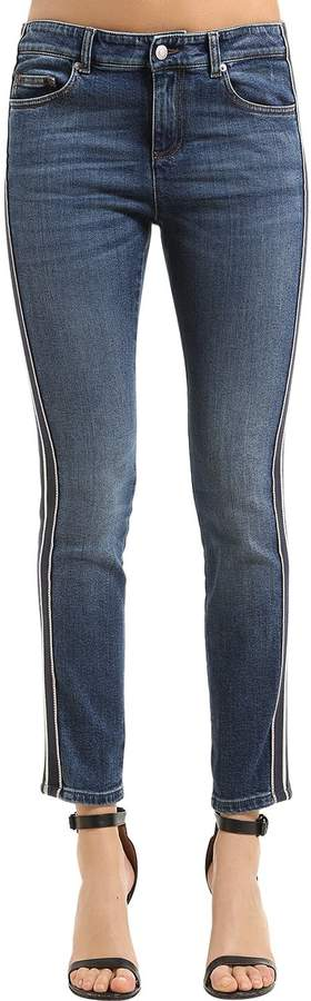 Alexander McQueen Skinny Japanese Cotton Denim Jeans