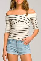 Cherish Off Shoulder Fitted Top