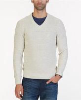 Nautica Men's Textured Knit V-Neck Sweater