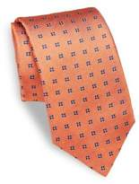 Isaia Floral Embroidered Silk Tie