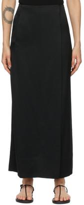 Esse Studios Black Viscose Column Skirt