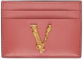 Versace Pink Virtus Card Holder