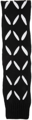 Stefan Cooke SSENSE Exclusive Black Wool Slashed Scarf