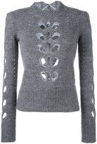 Isabel Marant 'Ilia' cut out jumper - women - Acrylic/Mohair/Alpaca/Polyimide - 42