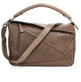 Loewe Puzzle Small Python Shoulder Bag