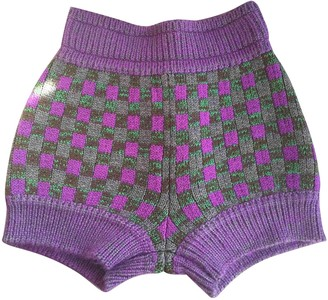 Miu Miu Purple Wool Shorts for Women