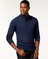 Sean John Twist-Yarn Button-Neck Sweater, Only at Macy's