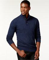 Sean John Twist-Yarn Button-Neck Sweater