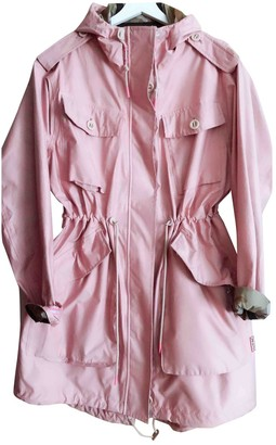 Hunter Pink Cotton Trench Coat for Women