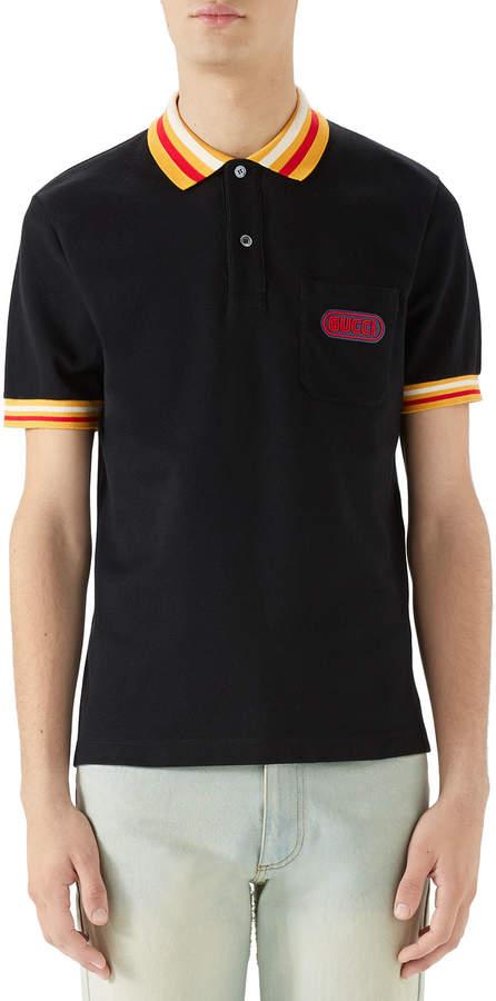 d450748d116b Gucci Black Men's Polos - ShopStyle