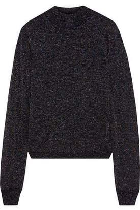 Iris & Ink Karrigan Metallic Wool-blend Sweater