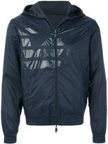 Armani Jeans zipped hooded jacket