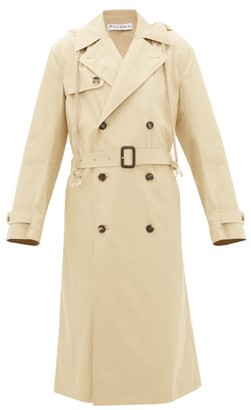 J.W.Anderson Hooded Cotton-gabardine Trench Coat - Womens - Beige