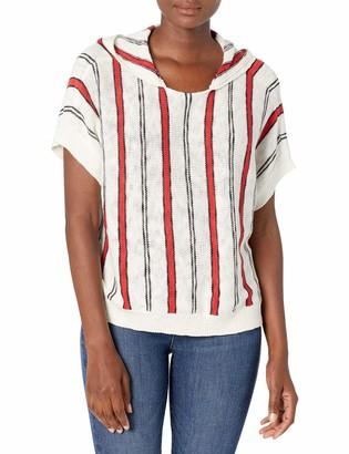 Jack by BB Dakota Women's Chill to Happen Stripe Hooded Sweater