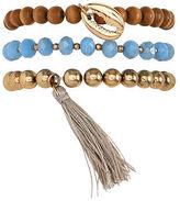 Aeropostale Womens Chunky Bead Bracelet 3-Pack