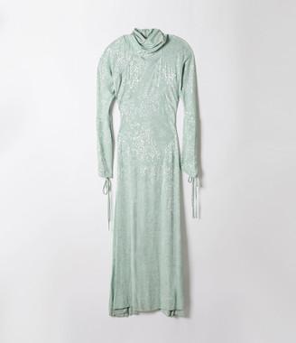 Vivienne Westwood Pourpoint Polo Neck Dress Mint