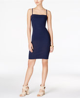 MinkPink Cotton Over The Horizon Ribbed Body-Con Dress