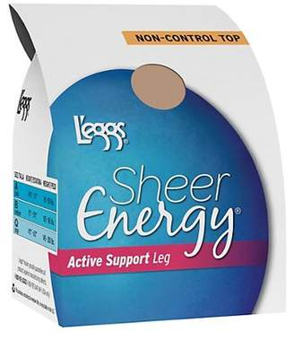 L'eggs Sheer Energy Active Support Regular, Sheer Toe Pantyhose 4-Pack