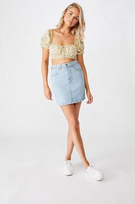 Supre Clara Stretch Denim Mini Skirt