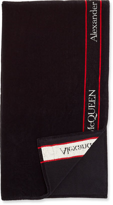 Alexander McQueen Men's Selvedge Logo Beach Towel