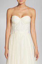 Jenny Yoo Women's Beaded Strapless Lace Bustier