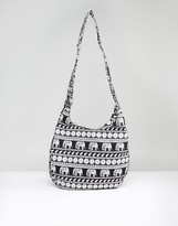 Reclaimed Vintage Inspired Elephant Slouch Shoulder Bag