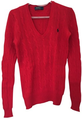 Polo Ralph Lauren Red Cashmere Knitwear