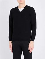 HUGO BOSS V-neck knitted jumper