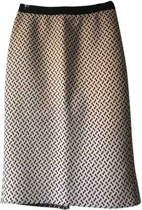 Miu Miu White Wool Skirt for Women