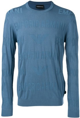Emporio Armani blue lightweight sweater