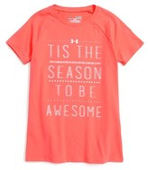 Under Armour Girl's Tis The Season Graphic Heatgear Tee
