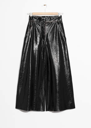 And other stories Patent Leather Culottes