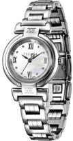 Escada Women's Silver-Tone Lauren 28mm Round Mother of Pearl Dial Watch E2125011