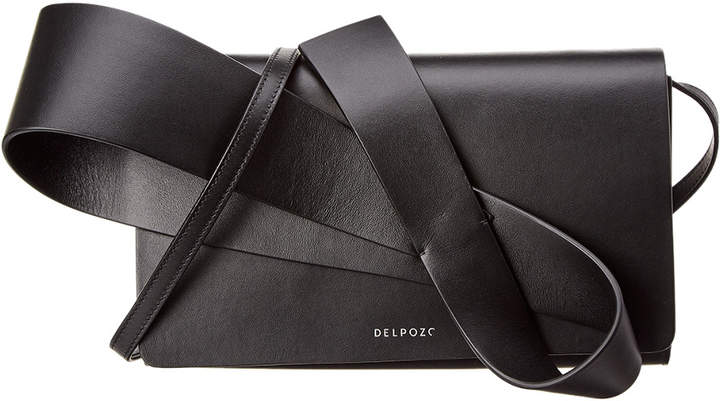 DELPOZO Orchid Leather Clutch